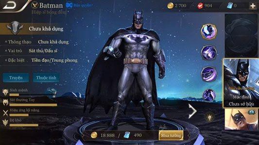 Cách lên đồ, bảng ngọc bổ trợ cho Batman 3
