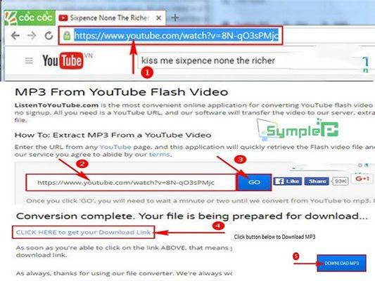 Cách Tải Mp3 Từ Youtube, Tách Nhạc Youtube Không Cần Phần Mềm 2