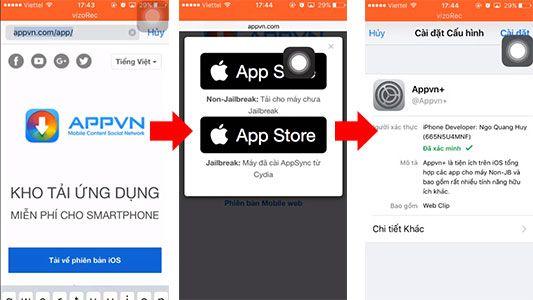 Hướng Dẫn Cài AppVN Cho iOS 10, 11, 12 Không Cần Jailbreak