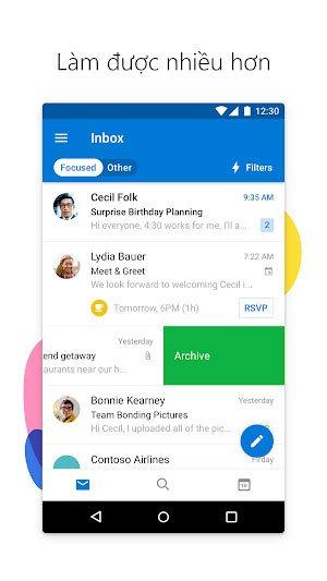 Tải Microsoft Outlook Phiên Bản Mới Cho Điện Thoại Android, iOS1