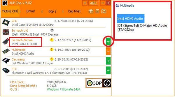 Download 3DP Chip – Tải Và Cập Nhật Driver Máy Tính Chuẩn Nhất