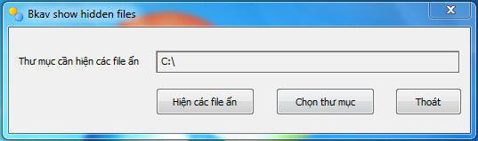 Download FixAttrb Bkav – Phần Mềm Phục Hồi File Ẩn USB Do Virus