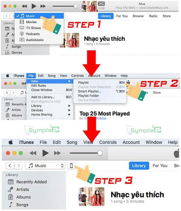 Download iTunes 12 Mới Nhất – Cách chép nhạc vào iphone bằng itune