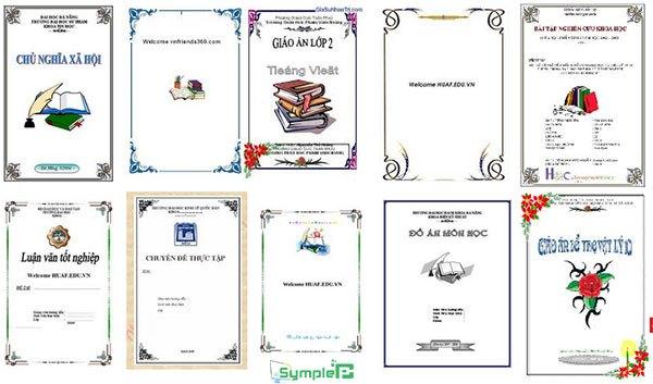 Download Mẫu Bìa Word – Tổng Hợp Bìa Tiểu Luận, Báo Cáo Đẹp Nhất