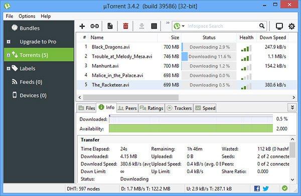 Download uTorrent Mới Nhất - Tải File Tốc Độ Cao Qua Giao Thức P2P
