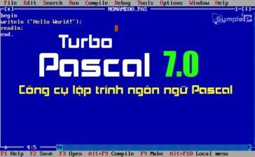 Download Turbo Pascal – Phần Nềm Ngôn Ngữ Lập Trình Cho Máy Tính