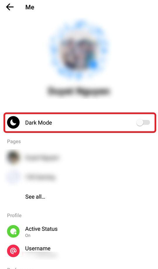 Kích Hoạt Chế Độ Dark Mode Trên Messenger iOS Thành Công 100%